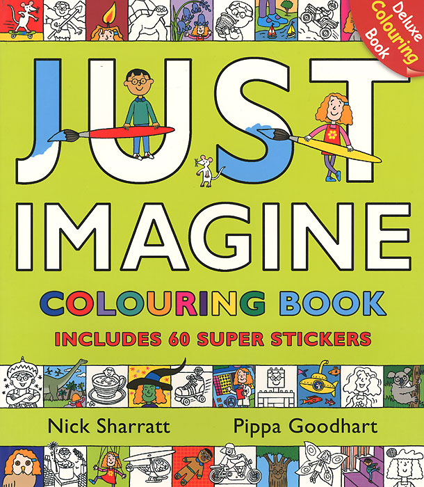 Just Imagine: Colouring Book with Stickers die hard the official colouring book