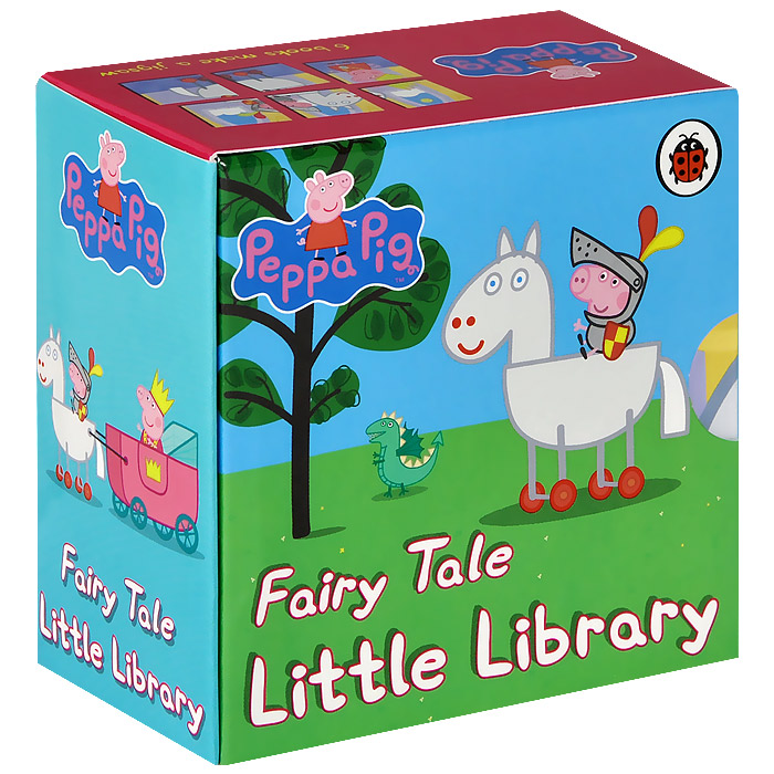 Peppa Pig: Fairy Tale Little Library (комплект из 6 книг) iiniim baby girls off shoulder ruched fairy tale princess halloween costume cosplay party fancy dress with gloves tiara wand