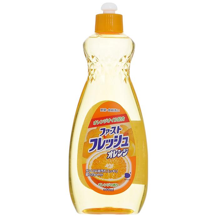 Гель для мытья посуды Daiichi Фреш Оранж, с ароматом апельсина, 600 мл гель для мытья посуды daiichi фреш элеганс с ароматом лайма 600 мл