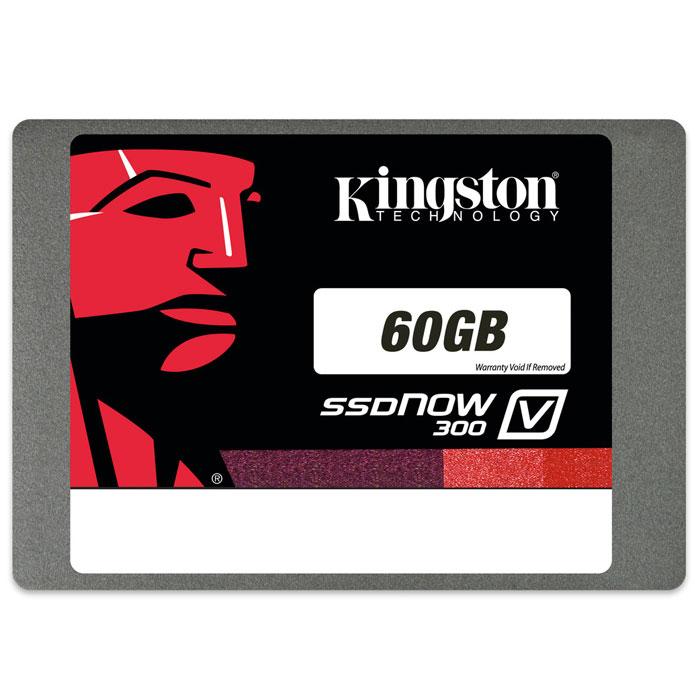 Kingston SSDNow V30060GB (SV300S3N7A/60G)SV300S3N7A/60GПовысьте скорость работы Вашего компьютера и сэкономьте средства, заменив старый жесткий диск на твердотельный накопитель Kingston SSDNow V300. Это самое экономически эффективное решение для повышения производительности системы и более простой способ по сравнению с переносом всех данных на новую систему.SSDNow V300 имеет контроллер LSI SandForce, оптимизированный для флеш-памяти нового поколения, что обеспечивает высочайшее качество и надежность. Накопители состоят из твердотельных компонентов и не содержат движущихся деталей, поэтому они имеют повышенную ударопрочность и выдерживают падения и вибрации.Накопители SSDNow V300 просты в установке и поставляются в комплектах, содержащих все необходимые аксессуары, включая программное обеспечение для клонирования файлов и операционной системы за считанные минуты. Они имеют трехлетнюю гарантию, бесплатную техническую поддержку и отличаются легендарнойнадежностью Kingston.Интерфейс: SATA 3.0 (6 Гбит/с), обратная совместимость с SATA 2.0Вибрация при работе: 2,17 G (пиковая) при частоте 7-800 ГцВибрация при простое: 20 G (пиковая) при частоте 10-2000 ГцОжидаемый срок службы: 1 млн часов (средняя наработка на отказ)Максимальная скорость чтения/записи случайных блоков размером 4 КБ: 60 ГБ - до 85 000 / до 60 000 IOPS; 240 ГБ - до 85 000 / до 43 000 IOPSРейтинг PCMARK Vantage HDD Suite: 60 ГБ - 39 000; 240 ГБ - 57 000Энергопотребление: 0.64 Вт при простое, 1.42 Вт при чтении, 2.05 Вт при записиКак собрать игровой компьютер. Статья OZON ГидКакой SSD выбрать. Статья OZON Гид