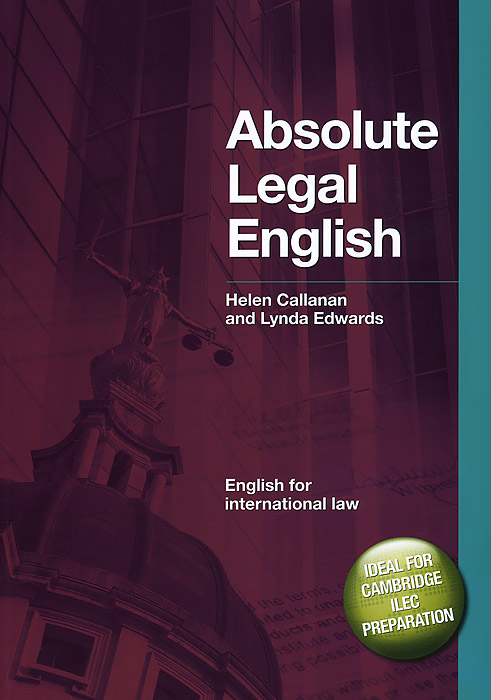 Absolute Legal English Book: English for International Law (+ CD-ROM) fit sds