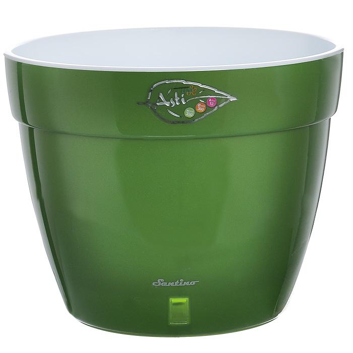 Вазон Santino Асти, цвет: зеленый, белый, 15 л ящик балконный santino 60 х 19 х 15 см