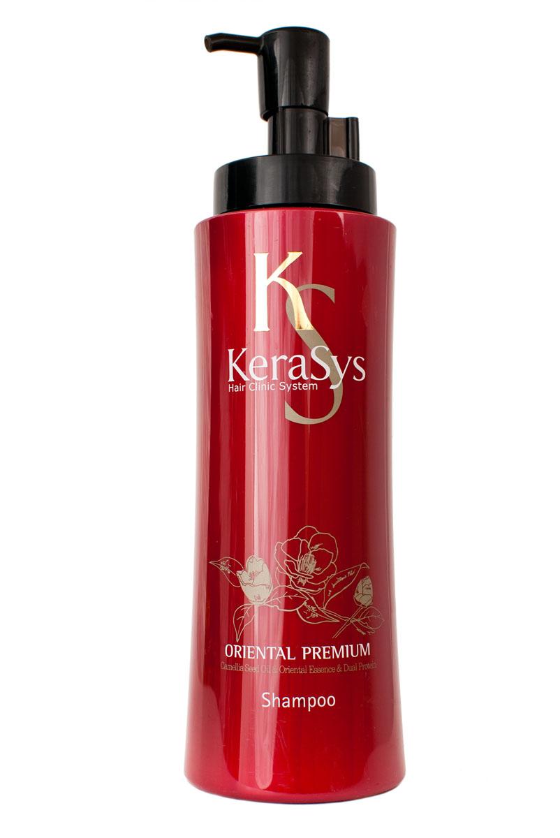 Шампунь KeraSys. Oriental Premium для волос, 600 мл870990Шампунь KeraSys. Oriental Premium защищает от ультрафиолетовых лучей. Восточные травы помогают защитить кожу головы от вредных воздействий и компенсируют нехватку коже липидов. Присутствующие в составе ингредиенты укрепляют корни волос. Дуопротеин восстанавливает поврежденные волосы. Кератин делает поврежденные волосы более здоровыми и шелковистыми. Типы волос:для всех типов волос. Характеристики: Объем: 600 мл. Артикул: 870990. Товар сертифицирован.