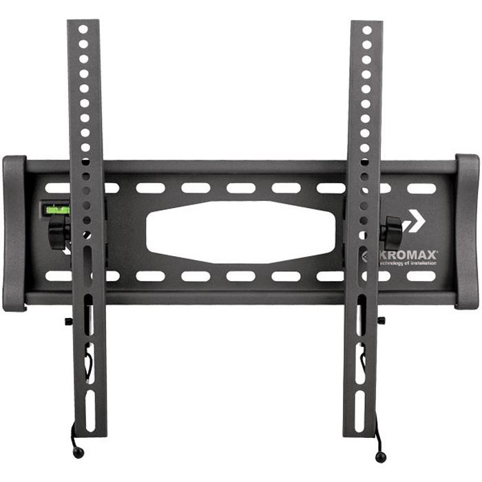 Kromax Star-4, Grey кронштейн для ТВ20055Наклонный кронштейн Kromax Star-4 предназначен для ЖК (LCD) телевизоров и плазменных панелей с регулируемым наклоном и расстоянием от стены - 76 мм. С помощью технологии TechLock, Вы легко сможете снять ТВ с кронштейна вместе с направляющими. Максимальные посадочные отверстия по горизонтали - 460 мм, по вертикали - 410 мм.