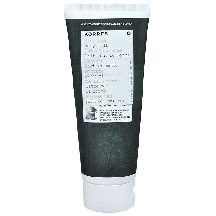 Korres Молочко для тела Мятный чай, 200 мл520306904334593, 5% натуральных ингредиентов. Для любого возраста, для всех типов кожи. Увлажняющее молочко для тела обогащено витаминами, микроэлементами и необходимыми энергетическими компонентами. Сочетание масел миндаля и ши, активного алоэ и провитамина В5 обеспечивает длительное увлажнение и восстанавливает эластичность кожи. Легко впитывается, даря коже бархатистость. Исключительная пудровая текстура создает на коже финальный матовый эффект.* Масло сладкого миндаля - успокаивает, смягчает кожу, обладает иммуностимулирующим действием. Обеспечивает идеальное питание для восстановления даже очень сухой кожи * Масло ши - обладает защитными, регенерирующими и смягчающими свойствами, стимулирует синтез коллагена, является природным УФ-фильтром * Активный экстракт алоэ - увлажнение, антиоксидант, поддерживает кожный иммунитет * Провитамин B5 - длительное увлажнениеНаносить ежедневно на сухую кожу. Можно наносить на все тело, лучше на влажную кожу после душа.