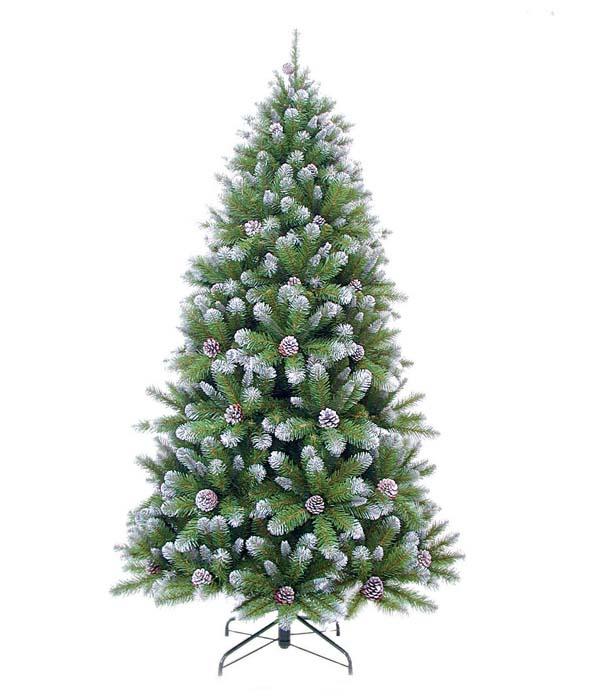 Ель искусственная Triumph Tree Императрица с шишками, напольная, высота 2,15 мИР73541 (088027)Искусственная ель Триумф Императрица с Шишками, выполненная из мягкого ПВХ, прекрасный вариант для оформления интерьера к Новому году. Глядя на ель, невольно вспоминается детство, Новый Год, самая красивая и большая праздничная елка. Так и было задумано производителем.Особенности елок Triumph Tree: - высокое качество; - соответствуют стандартам безопасности стран Европы; - ветки полностью безопасны для рук - нет острых режущих концов проволоки; - особо рекомендованы для детей по условиям безопасности; - хвоя из экологически чистого синтетического материала; - не воспламеняются; - гипоаллергенны; - иголки не осыпаются, не мнутся, со временем не выцветают; - простая и быстрая сборка (разборка) благодаря цветной маркировке веток и креплений; - ветки достаточно толстые, что позволяет им не гнуться и не прогибаться под тяжестью игрушек; - ветки достаточно жесткие, легко и быстро распушаются - каждая по отдельности; - устойчивая металлическая подставка; - компактная современная прочная коробка - для многолетнего хранения; - четкие инструкции по монтажу; - срок службы более 10 лет. Ель Триумф Императрица с Шишками обязательно создаст настроение праздника. Характеристики:Материал: мягкий ПВХ, металл. Высота ели: 215 см. Диаметр ели: 119 см. Объем ели: 0,13 м3. Количество веток: 1024 шт. Цвет: зеленый, белый. Производитель: Голландия. Изготовитель: Таиланд. Торговая марка Triumph Тгее была создана и зарегистрирована в 1988 году. Благодаря качеству, надежности и современному дизайну искусственные деревья, производимые под торговой маркой Triumph Тгее получили признание во всем мире и стали за эти годы эталоном качества.