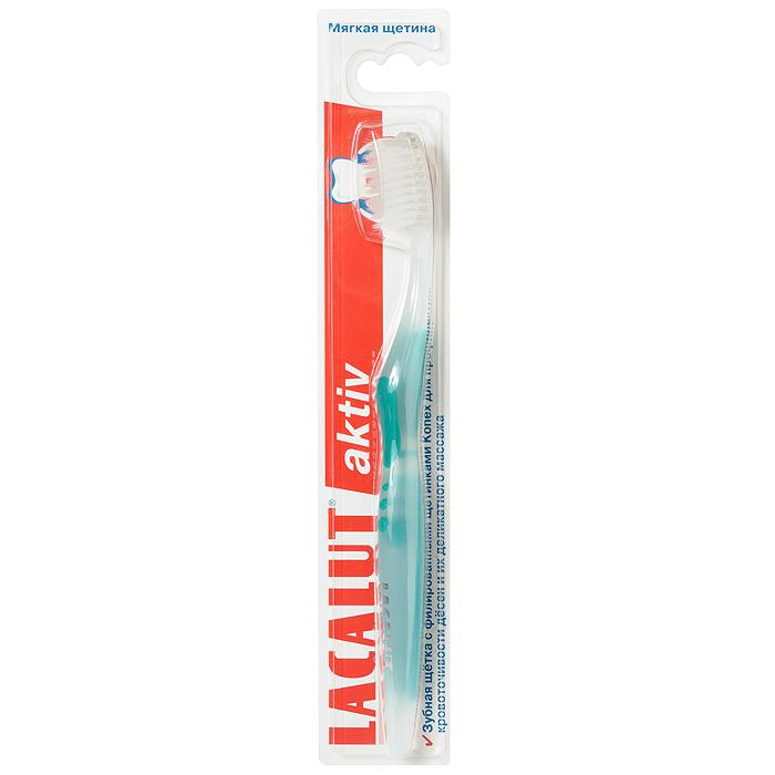 """Lacalut Зубная щетка """"Aktiv"""", с заостренной щетиной, мягкая жесткость, цвет: бирюзовый"""