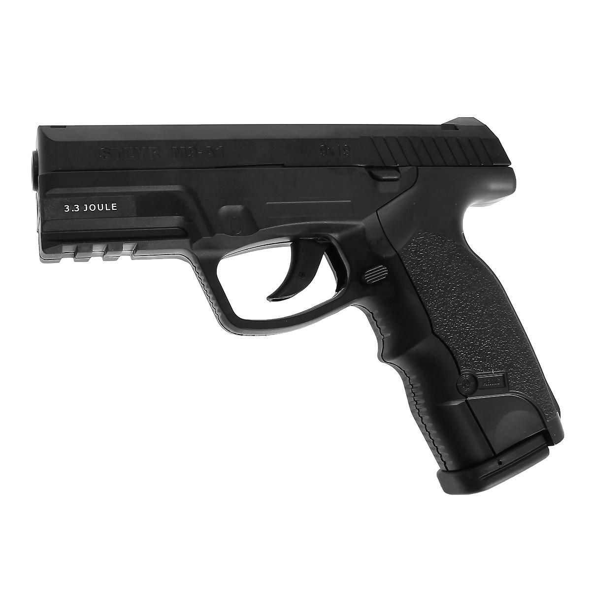 ASG Steyr Mannlicher M9-A1 пистолет пневматический CO2, 4,5 мм, цвет: Black (16088) цена