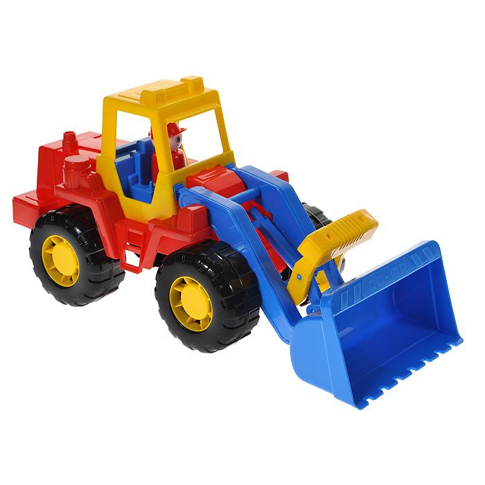 полесье трактор чемпион цвет синий желтый Полесье Трактор-погрузчик Техник цвет красный синий желтый