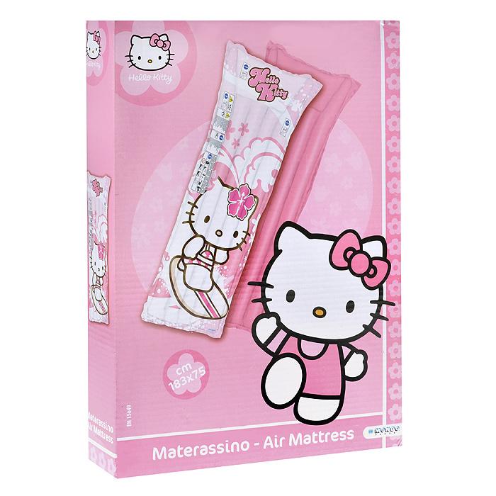 Матрас детский надувной Hello Kitty, цвет: нежно-розовый, белый, 183 см х 75 см