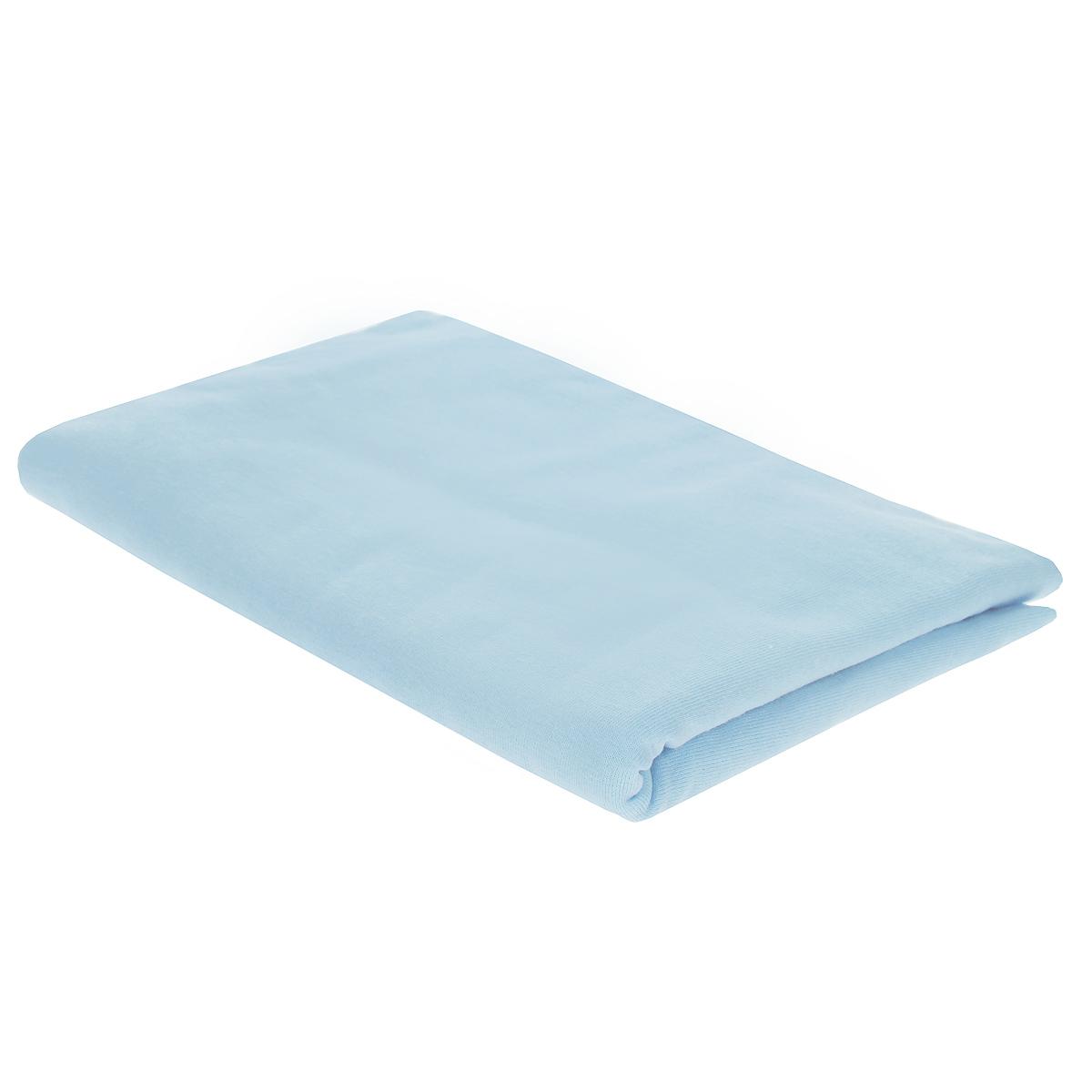 Пеленка трикотажная Трон-Плюс, цвет: голубой, 120 см х 90 см пеленка трикотажная трон плюс цвет розовый 120 см х 90 см