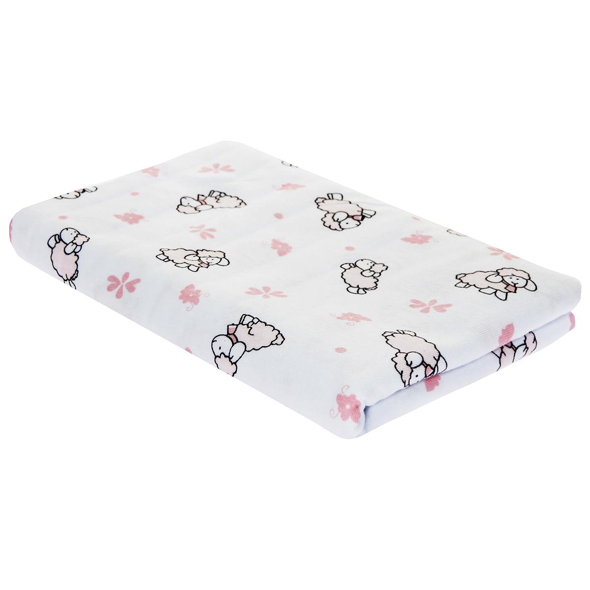 Пеленка детская Трон-Плюс, цвет: белый с розовыми коровками, 120 см х 90 см5411 роз корДетская пеленка Трон-Плюс подходит для пеленания ребенка с самого рождения. Она невероятно мягкая и нежная на ощупь. Пеленка выполнена из футера - хлопчатобумажной ткани с небольшим начесом с изнаночной стороны. Такая ткань прекрасно дышит, она гипоаллергенна, обладает повышенными теплоизоляционными свойствами и не теряет формы после стирки. Мягкая ткань укутывает малыша с необычайной нежностью. Пеленку также можно использовать как легкое одеяло в теплую погоду, простынку, полотенце после купания, накидку для кормления грудью или как согревающий компресс при коликах. Пеленочка белого цвета оформлена изображениями розовых облаков и коровок. Ее размер подходит для пеленания даже крупного малыша. Характеристики:Размер пеленки: 120 см x 90 см.