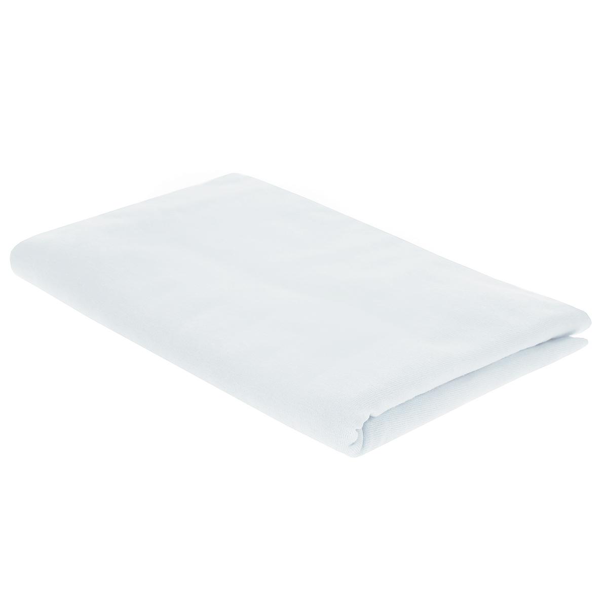 Пеленка трикотажная Трон-Плюс, цвет: белый, 120 см х 90 см пеленка трикотажная трон плюс цвет розовый 120 см х 90 см