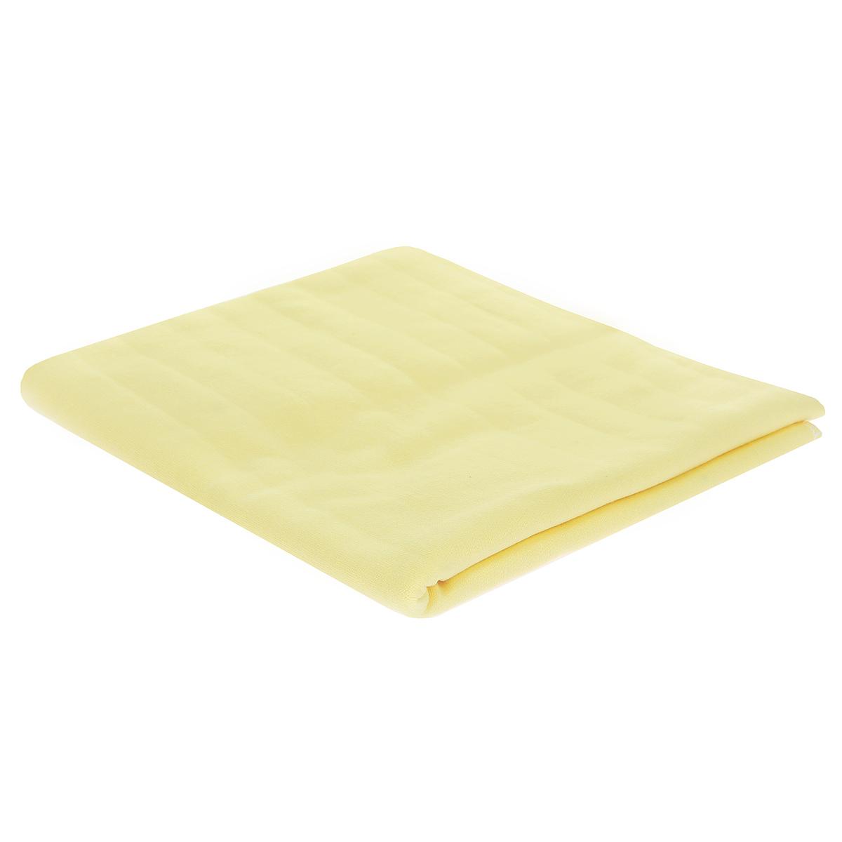 Пеленка детская Трон-Плюс, цвет: желтый, 120 см х 90 см пеленка трикотажная трон плюс цвет розовый 120 см х 90 см