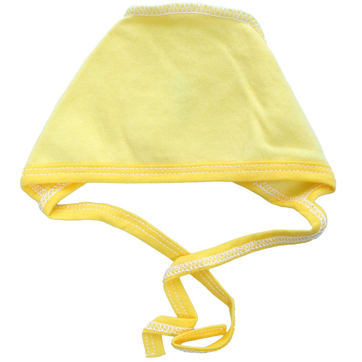 Чепчик унисекс Трон-Плюс, цвет: желтый. 6125. Размер 56, 1 месяц6125Мягкий утепленный чепчик из футера Трон-плюс, необходимый любому младенцу, защищает еще не заросший родничок, щадит чувствительный слух малыша, прикрывая ушки, и предохраняет от теплопотерь.Чепчик, изготовленный из натурального хлопка, необычайно мягкий и легкий, не раздражает нежную кожу ребенка и хорошо вентилируются. Чепчик по краю дополнен трикотажной тесьмой. С помощью завязок, можно регулировать обхват чепчика. Швы, выполненные наружу, обеспечивают максимальный комфорт ребенку.