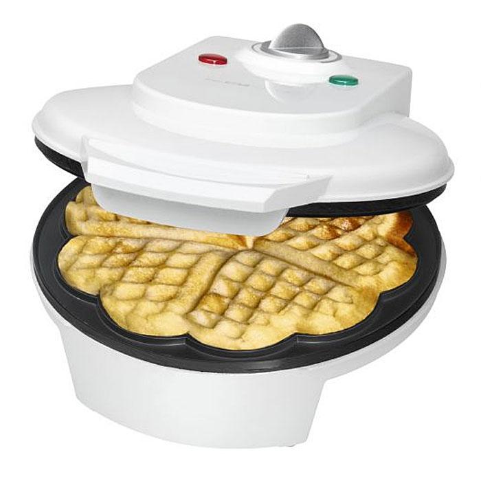 Clatronic WA 3491, White вафельница мини печь clatronic mbg 3521