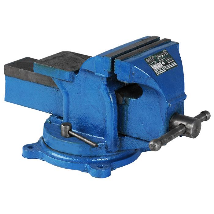 Станочные поворотные усиленные тиски Fit Bench Vices, 125 мм тиски станочные fit 59715