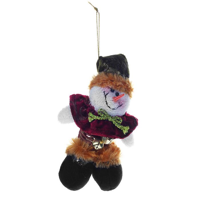 Новогоднее подвесное украшение Снеговик. 20021