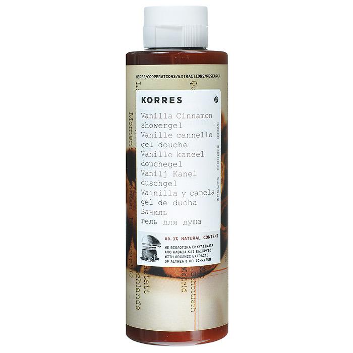 Korres Гель для душа Ваниль и корица, 250 мл520306904320889, 3% натуральных ингредиентов. Для любого возраста, для всех типов кожи. Можно использовать для детей с 3-х лет. Идеальное средство для ежедневного использования. Превращаясь в кремовую пену, гель обеспечивает интенсивный смягчающий и увлажняющий эффект, сохраняющийся надолго. Протеины пшеницы образуют защитную пленку на поверхности кожи, обеспечивая длительное увлажнение. Гель обладают красивым нежным ароматом ванили и корицы.* Активный экстракт алоэ - увлажнение, антиоксидант, поддерживает кожный иммунитет * Протеины пшеницы - образуют защитную пленку на коже * Протеины овса - образуют защитную пленку на кожеНаносите на влажную кожу при принятии душа или ванны.