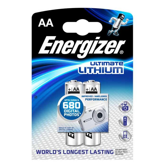Батарейка литиевая ENERGIZER Ultim Lithium, тип АА, 2 шт636895/635180/636323/632961Батарейка литиевая ENERGIZER Ultim Lithium имеет непревзойденную емкость и вес на 33% меньше стандартных алкалиновых батареек.Не содержит ртути и кадмия. Характеристики:Тип элемента питания: литиевый. Выходное напряжение: 1,5 В. Размер батарейки: 1,5 см х 1,5 см х 5 см. Размер упаковки: 8 см х 11,5 см х 1,5 см. Изготовитель: Сингапур.