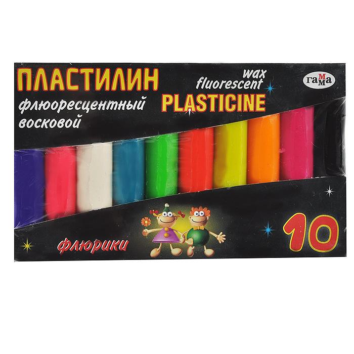 Пластилин восковой Флюрики, флюоресцентный, 10 цветов281036Цветной восковой пластилин Флюрики, предназначенный для лепки и моделирования, поможет ребенку развить творческие способности, воображение и мелкую моторику рук. Пластилин обладает отличными пластичными свойствами, быстро размягчается, хорошо держит форму и не липнет к рукам. Легко отмывается с рук и отстирывается от одежды. Пластилин нетоксичен, безопасен для здоровья. В наборе пластилин десяти флюоресцентных цветов: темно-фиолетового, красного, белого, темно-бирюзового, салатового, кораллового, желтого, оранжевого, лилового и черного. Характеристики:Размер брусочка пластилина: 7 см х 1 см х 1 см. Общая масса пластилина: 92 г. Размер упаковки: 12 см х 7 см х 1 см.