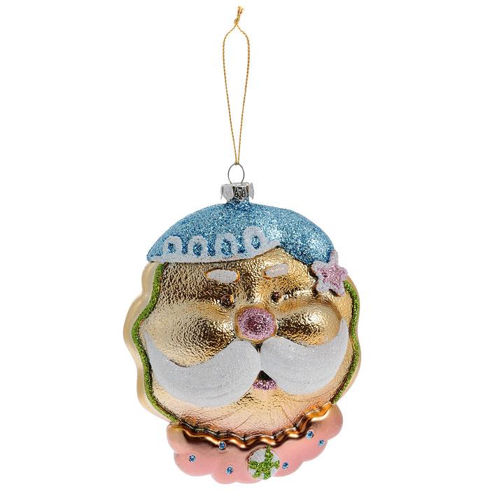 Новогоднее подвесное украшение Дед Мороз. 2588925889Оригинальное новогоднее украшение выполнено из пластика в виде головы Дедушки Мороза в голубом колпаке и с пышными белыми усами. Украшение декорировано блестками. С помощью специальной петельки его можно повесить в любом понравившемся вам месте. Но, конечно же, удачнее всего такая игрушка будет смотреться на праздничной елке.Новогодние украшения приносят в дом волшебство и ощущение праздника. Создайте в своем доме атмосферу веселья и радости, украшая всей семьей новогоднюю елку нарядными игрушками, которые будут из года в год накапливать теплоту воспоминаний.Коллекция декоративных украшений из серии Magic Time принесет в ваш дом ни с чем несравнимое ощущение волшебства! Характеристики:Материал: пластик, блестки, текстиль. Размер украшения: 8,5 см х 4 см х 12 см. Артикул: 25889.
