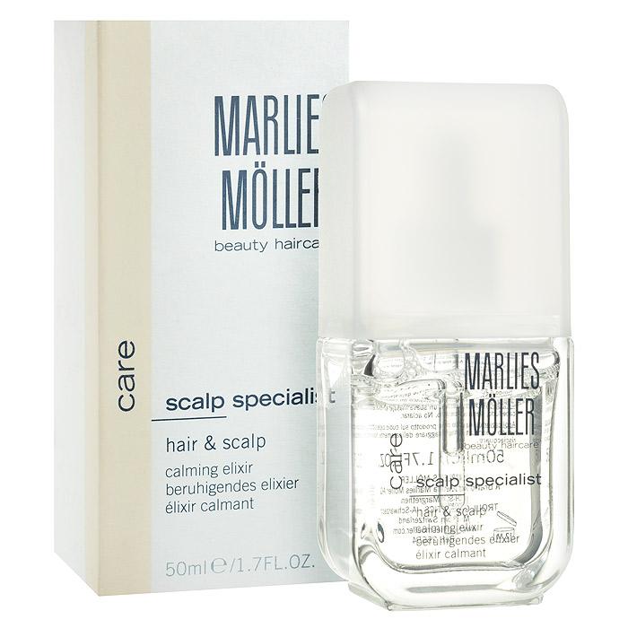 Marlies Moller Эликсир Specialist для кожи головы и волос, успокаивающий, 50 мл эликсир успокаивающий 50 мл marlies moller эликсир успокаивающий 50 мл