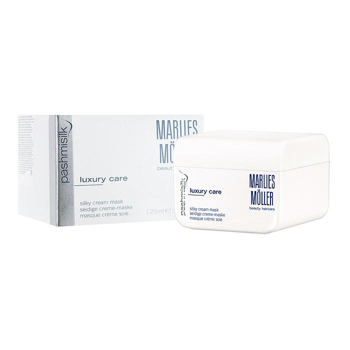 Marlies Moller Маска Pashmisilk для волос, интенсивная, шелковая, 125 мл25713MMsОдин самых интенсивных продуктов. Укрепляет, питает и делает волосы более гладкими. Придает волосам натуральный, шелковый блеск и пленительную мягкость. Предотвращает появление статического электричества. Очень легкая маска, не утяжеляет волосы. Рекомендуется для всех типов волос. Мягкое средство без силиконов. Уникальность маски заключается не только в эффекте, который она оказывает на волосы, но и в способах нанесения, их четыре. Можно вечером нанести маску тонким слоем и оставить на всю ночь (не пачкает подушку). Можно утром нанесите небольшое количество маски на сухие волосы, дать впитаться (1-2 минуты). Маска совершенно незаметна на волосах и будет весь день интенсивно ухаживать и защищать Ваши волосы. Можно нанести маску перед мытьем на сухие волосы: она распределяется по всей длине волос, после 10 - 20 минут смыть шампунем. Можно нанести маску классическим способом на чистые подсушенные волосы на 10 - 20 минут и смыть водой.Бережно нанесите на сухие или подсушенные полотенцем волосы. Оставьте на 15 минут. Тщательно смойте.