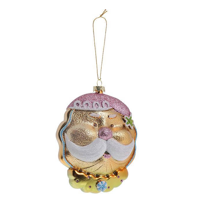 Новогоднее подвесное украшение Дед Мороз. 2589025890Оригинальное новогоднее украшение выполнено из пластика в виде головы Дедушки Мороза в розовом колпаке и с пышными белыми усами. Украшение декорировано блестками. С помощью специальной петельки его можно повесить в любом понравившемся вам месте. Но, конечно же, удачнее всего такая игрушка будет смотреться на праздничной елке.Новогодние украшения приносят в дом волшебство и ощущение праздника. Создайте в своем доме атмосферу веселья и радости, украшая всей семьей новогоднюю елку нарядными игрушками, которые будут из года в год накапливать теплоту воспоминаний. Коллекция декоративных украшений из серии Magic Time принесет в ваш дом ни с чем несравнимое ощущение волшебства! Характеристики:Материал: пластик, блестки, текстиль. Размер украшения: 8,5 см х 4 см х 12 см. Артикул: 25890.
