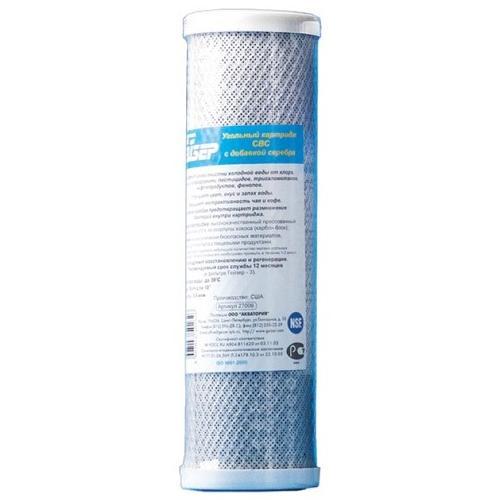 Картридж Гейзер CBC. Размер 10 BB27018Картридж Гейзер СВС 10ВВ.Изготовлен из высококачественного кокосового активированного угля по технологии карбон-блок, что обеспечивает глубокую очистку воды от хлора, органических и хлорорганических соединений. Устраняет неприятные запахи и улучшает вкус воды. Сертифицирован американской ассоциацией NSF.Подходит для корпусов стандарта 10ВВ (Big Blue) любых производителей.Ресурс 25000 литров.