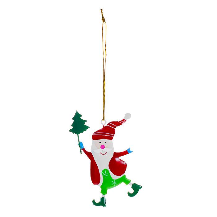 Новогоднее подвесное украшение Гномик. 3086530865Оригинальное новогоднее украшение выполнено из металла в виде веселого гномика. С помощью специальной петельки украшение можно повесить в любом понравившемся вам месте. Но, конечно, удачнее всего такая игрушка будет смотреться на праздничной елке.Елочная игрушка - символ Нового года. Она несет в себе волшебство и красоту праздника. Создайте в своем доме атмосферу веселья и радости, украшая новогоднюю елку нарядными игрушками, которые будут из года в год накапливать теплоту воспоминаний. Коллекция декоративных украшений из серии Magic Time принесет в ваш дом ни с чем несравнимое ощущение волшебства! Характеристики:Материал: металл, текстиль. Размер украшения: 6 см х 9,5 см. Артикул: 30865.