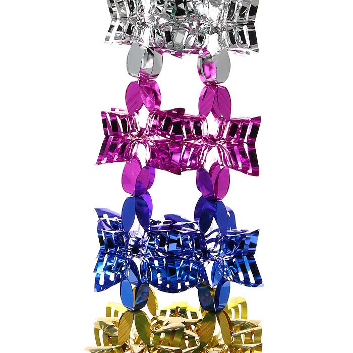 Новогодняя мишура Magic Time, цвет: мульти, 2 м. 2699326993Новогодняя мишура «Magic Time» прекрасно подойдет для декора дома и праздничной ели. Украшение выполнено из разноцветной металлизированной фольги. Его можно повесить в любом понравившемся вам месте. Легко складывается и раскладывается.Новогодние украшения несут в себе волшебство и красоту праздника. Они помогут вам украсить дом к предстоящим праздникам и оживить интерьер по вашему вкусу. Создайте в доме атмосферу тепла, веселья и радости, украшая его всей семьей. Коллекция декоративных украшений из серии Magic Time принесет в ваш дом ни с чем несравнимое ощущение волшебства! Характеристики:Материал: металлизированная фольга (ПВХ). Цвет: мульти. Длина мишуры: 2 м.Размер мишуры (в собранном виде): 27 см х 27 см. Размер упаковки: 31 см х 28 см х 2 см. Артикул: 26993.