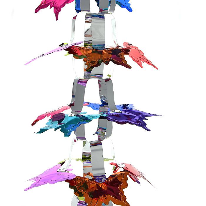 Новогодняя гирлянда Magic Time, цвет: мульти, 2,7 м. 20369686014Новогодняя гирлянда «Magic Time» прекрасно подойдет для декора дома или офиса. Украшение выполнено из разноцветной металлизированной фольги. С помощью специальных петелек его можно повесить в любом понравившемся вам месте. Легко складывается и раскладывается. Новогодние украшения несут в себе волшебство и красоту праздника. Они помогут вам украсить дом к предстоящим праздникам и оживить интерьер по вашему вкусу. Создайте в доме атмосферу тепла, веселья и радости, украшая его всей семьей.Коллекция декоративных украшений из серии Magic Time принесет в ваш дом ни с чем несравнимое ощущение волшебства! Характеристики:Материал: металлизированная фольга (ПВХ). Цвет: мульти. Длина гирлянды: 2,7 м.Размер гирлянды (в собранном виде): 28,5 см х 29,5 см. Размер упаковки: 37 см х 33 см х 2 см. Артикул: 20369.