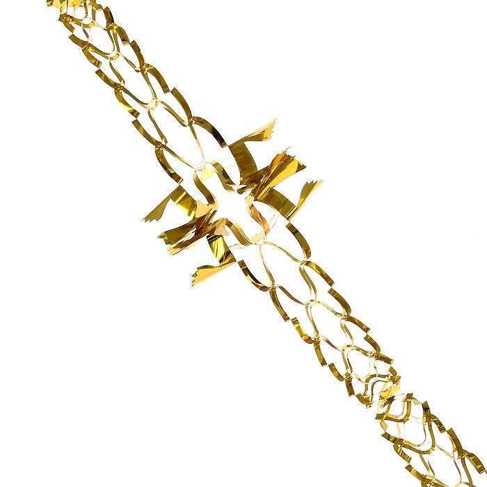 Новогодняя гирлянда Magic Time, цвет: золотистый, 2 м. 3163531635Новогодняя гирлянда «Magic Time» прекрасно подойдет для декора дома или офиса. Украшение выполнено из металлизированной фольги золотистого цвета. С помощью специальных петелек его можно повесить в любом понравившемся вам месте. Легко складывается и раскладывается.Новогодние украшения несут в себе волшебство и красоту праздника. Они помогут вам украсить дом к предстоящим праздникам и оживить интерьер по вашему вкусу. Создайте в доме атмосферу тепла, веселья и радости, украшая его всей семьей. Коллекция декоративных украшений из серии Magic Time принесет в ваш дом ни с чем несравнимое ощущение волшебства! Характеристики:Материал: металлизированная фольга (ПВХ). Цвет: золотистый. Длина гирлянды: 2 м.Диаметр гирлянды (в собранном виде): 14 см. Размер упаковки: 16 см х 19 см х 1 см. Артикул: 31635.