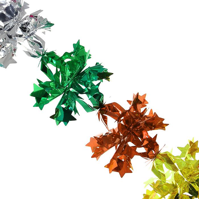 Новогодняя гирлянда Magic Time, цвет: мульти, 2,1 м. 3097730977Новогодняя гирлянда «Magic Time» прекрасно подойдет для декора дома или офиса. Украшение выполнено из разноцветной металлизированной фольги. С помощью специальных петелек его можно повесить в любом понравившемся вам месте. Легко складывается и раскладывается.Новогодние украшения несут в себе волшебство и красоту праздника. Они помогут вам украсить дом к предстоящим праздникам и оживить интерьер по вашему вкусу. Создайте в доме атмосферу тепла, веселья и радости, украшая его всей семьей. Коллекция декоративных украшений из серии Magic Time принесет в ваш дом ни с чем несравнимое ощущение волшебства! Характеристики:Материал: металлизированная фольга (ПВХ). Цвет: мульти. Длина гирлянды: 2,1 м.Диаметр гирлянды (в собранном виде): 22,5 см. Размер упаковки: 25 см х 23 см х 1 см. Артикул: 30977.
