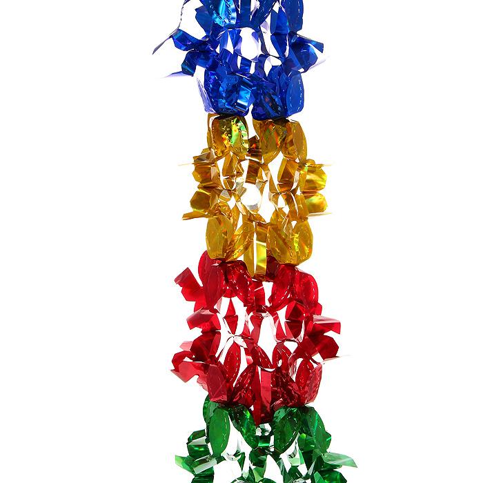 Новогодняя гирлянда Magic Time, цвет: мульти, 2,5 м. 3097630976Новогодняя гирлянда «Magic Time» прекрасно подойдет для декора дома или офиса. Украшение выполнено из разноцветной металлизированной фольги. С помощью специальных петелек его можно повесить в любом понравившемся вам месте. Легко складывается и раскладывается.Новогодние украшения несут в себе волшебство и красоту праздника. Они помогут вам украсить дом к предстоящим праздникам и оживить интерьер по вашему вкусу. Создайте в доме атмосферу тепла, веселья и радости, украшая его всей семьей. Коллекция декоративных украшений из серии Magic Time принесет в ваш дом ни с чем несравнимое ощущение волшебства! Характеристики:Материал: металлизированная фольга (ПВХ). Цвет: мульти. Длина гирлянды: 2,5 м.Размер гирлянды (в собранном виде): 23 см х 23 см. Размер упаковки: 27 см х 24 см х 1 см. Артикул: 30976.