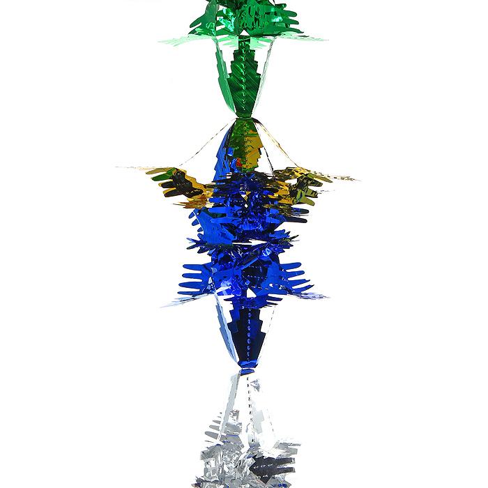 Новогодняя гирлянда Magic Time, цвет: мульти, 2,5 м. 30979020266Новогодняя гирлянда «Magic Time» прекрасно подойдет для декора дома или офиса. Украшение выполнено из разноцветной металлизированной фольги. С помощью специальных петелек его можно повесить в любом понравившемся вам месте. Легко складывается и раскладывается. Новогодние украшения несут в себе волшебство и красоту праздника. Они помогут вам украсить дом к предстоящим праздникам и оживить интерьер по вашему вкусу. Создайте в доме атмосферу тепла, веселья и радости, украшая его всей семьей.Коллекция декоративных украшений из серии Magic Time принесет в ваш дом ни с чем несравнимое ощущение волшебства! Характеристики:Материал: металлизированная фольга (ПВХ). Цвет: мульти. Длина гирлянды: 2,5 м.Размер гирлянды (в собранном виде): 19,5 см х 19,5 см. Размер упаковки: 25 см х 20 см х 1 см. Артикул: 30979.