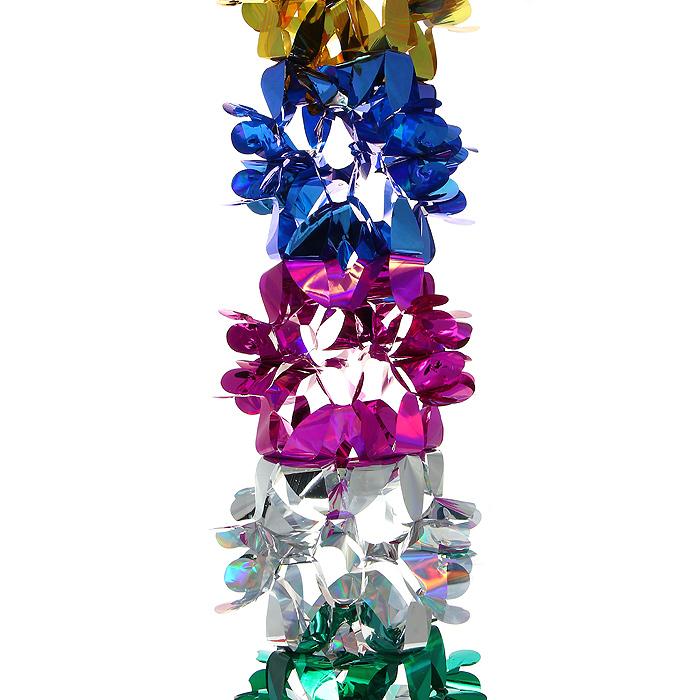 Новогодняя гирлянда Magic Time, цвет: мульти, 3 м. 3098430984Новогодняя гирлянда «Magic Time» прекрасно подойдет для декора дома или офиса. Украшение выполнено из разноцветной металлизированной фольги. С помощью специальных петелек его можно повесить в любом понравившемся вам месте. Легко складывается и раскладывается. Новогодние украшения несут в себе волшебство и красоту праздника. Они помогут вам украсить дом к предстоящим праздникам и оживить интерьер по вашему вкусу. Создайте в доме атмосферу тепла, веселья и радости, украшая его всей семьей.Коллекция декоративных украшений из серии Magic Time принесет в ваш дом ни с чем несравнимое ощущение волшебства! Характеристики:Материал: металлизированная фольга (ПВХ). Цвет: мульти. Длина гирлянды: 3 м.Размер гирлянды (в собранном виде): 20 см х 20 см. Размер упаковки: 25 см х 22 см х 2 см. Артикул: 30984.