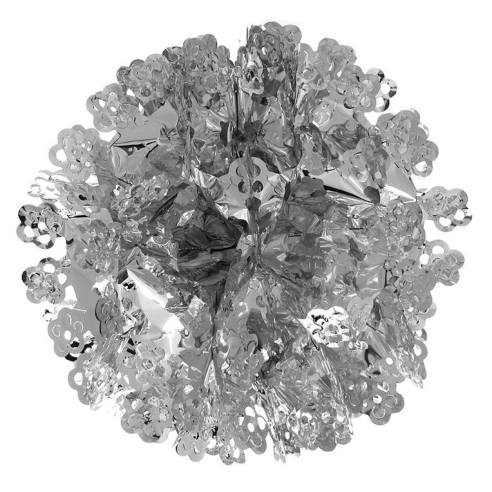 Новогодняя гирлянда Magic Time, цвет: серебристый. 3163831638Новогодняя гирлянда «Magic Time» прекрасно подойдет для декора дома и праздничной елки. Украшение выполнено из металлизированной фольги в виде шара. С помощью специальной петельки его можно повесить в любом понравившемся вам месте. Легко собирается в шар.Новогодние украшения несут в себе волшебство и красоту праздника. Они помогут вам украсить дом к предстоящим праздникам и оживить интерьер по вашему вкусу. Создайте в доме атмосферу тепла, веселья и радости, украшая его всей семьей.Коллекция декоративных украшений из серии Magic Time принесет в ваш дом ни с чем несравнимое ощущение волшебства! Характеристики:Материал: металлизированная фольга (ПВХ). Цвет: серебристый. Высота украшения: 26 см.Размер упаковки: 16 см х 29 см х 0,5 см. Артикул: 31638.