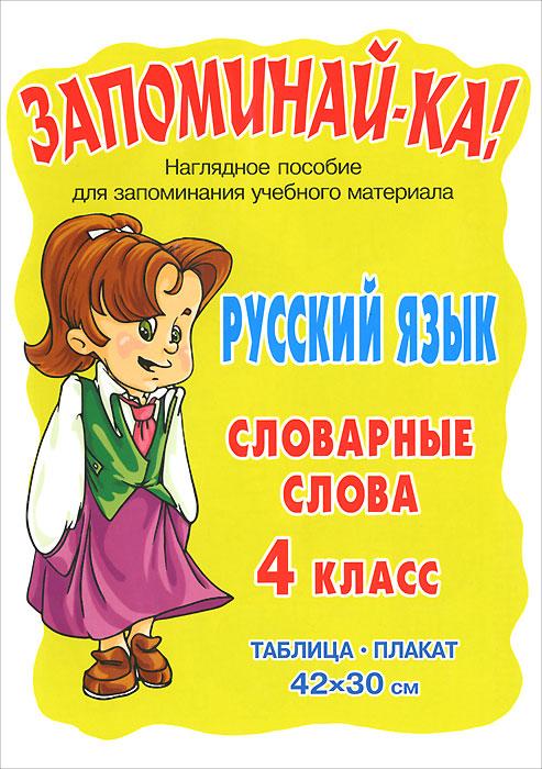 Русский язык. 4 класс. Словарные слова. Плакат уроки русского языка проверка знаний 4 класс
