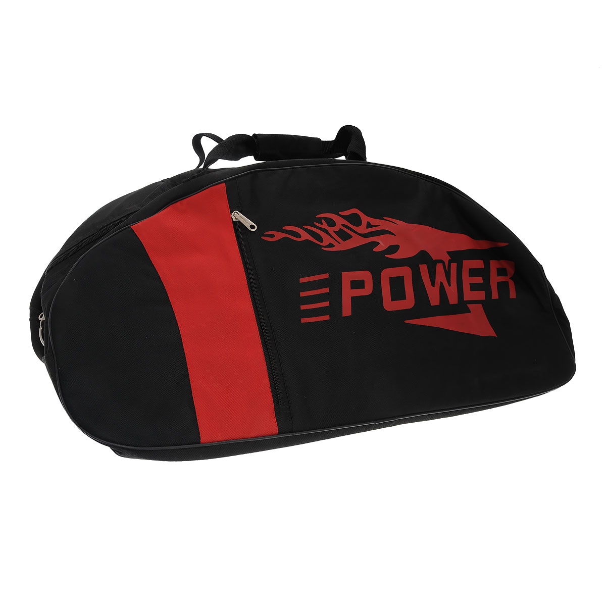 Сумка-чехол для детских джамперов Power, цвет: черный, красныйCarry bag JrСумка-чехол для детских джамперов Power - это вместительная сумка, в которой удобно переносить джамперы, комплект защиты и спортивную одежду для тренировок.Сумка выполнена из прочного материала черного и оранжевого цветов, содержит одно отделение и закрывается на застежку-молнию с двумя бегунками. Стенки сумки уплотнены, что поможет избежать повреждения оборудования при возможных ударах. С двух сторон на сумке расположены вертикальные прорезные карманы на застежках-молниях. Сумка оснащена двумя ручками для переноски и съемным плечевым ремнем, регулирующимся по длине. Характеристики:Материал: текстиль, пластик, металл. Размер: 64 см х 32 см х 22 см.
