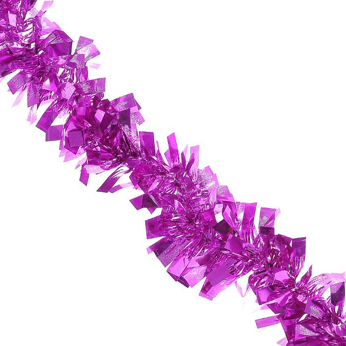 Новогодняя мишура Magic Time, диаметр 5 см, длина 200 см, цвет: лиловый. 26955