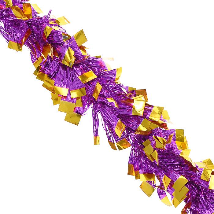 Новогодняя мишура Magic Time, диаметр 9 см, длина 200 см, цвет: лиловый, желтый. 2690526905Новогодняя мишура Magic Time лилового и желтого цвета, выполненная из ПВХ, поможет вам украсить свой дом к предстоящим праздникам. А новогодняя елка с таким украшением станет еще наряднее. Мишура армирована, то есть имеет проволоку внутри и способна сохранять приданную ей форму.Новогодней мишурой можно украсить все, что угодно - елку, квартиру, дачу, офис - как внутри, так и снаружи. Можно сложить новогодние поздравления, буквы и цифры, мишурой можно украсить и дополнить гирлянды, можно выделить дверные колонны, оплести дверные проемы.Коллекция декоративных украшений из серии Magic Time принесет в ваш дом ни с чем несравнимое ощущение волшебства! Создайте в своем доме атмосферу тепла, веселья и радости, украшая его всей семьей. Характеристики:Материал: ПВХ. Цвет: лиловый, желтый. Длина: 200 см. Диаметр: 9 см. Артикул: 26905.