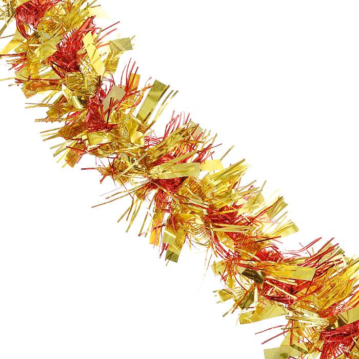 Новогодняя мишура Magic Time, диаметр 9 см, длина 200 см, цвет: золотистый, красный. 2694125878Новогодняя мишура Magic Time красно-золотистого цвета, выполненная из ПВХ, поможет вам украсить свой дом к предстоящим праздникам. А новогодняя елка с таким украшением станет еще наряднее. Мишура армирована, то есть имеет проволоку внутри и способна сохранять приданную ей форму. Новогодней мишурой можно украсить все, что угодно - елку, квартиру, дачу, офис - как внутри, так и снаружи. Можно сложить новогодние поздравления, буквы и цифры, мишурой можно украсить и дополнить гирлянды, можно выделить дверные колонны, оплести дверные проемы.Коллекция декоративных украшений из серии Magic Time принесет в ваш дом ни с чем несравнимое ощущение волшебства! Создайте в своем доме атмосферу тепла, веселья и радости, украшая его всей семьей. Характеристики:Материал: ПВХ. Цвет: золотистый, красный. Длина: 200 см. Диаметр: 9 см. Артикул: 26941.