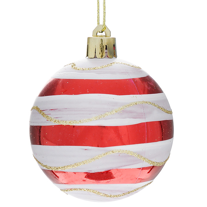 Набор новогодних подвесных елочных украшений Шар, 6 шт. 32321