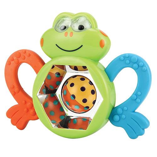 Игрушка-погремушка Happy Baby Смешной лягушонок happy baby погремушка прорезыватель музыкальная от 3 мес