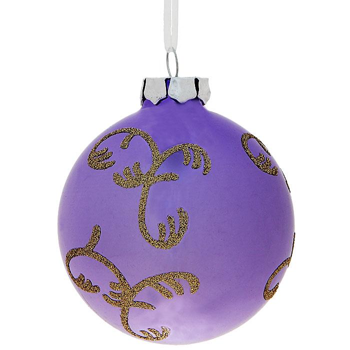 Новогоднее подвесное украшение Шар. 3053530535Изящное новогоднее украшение выполнено из стекла в виде шара, декорированного блестками. С помощью специальной петельки украшение можно повесить в любом понравившемся вам месте. Но, конечно, удачнее всего такая игрушка будет смотреться на праздничной елке.Новогодние украшения приносят в дом волшебство и ощущение праздника. Создайте в своем доме атмосферу веселья и радости, украшая всей семьей новогоднюю елку нарядными игрушками, которые будут из года в год накапливать теплоту воспоминаний. Коллекция декоративных украшений из серии Magic Time принесет в ваш дом ни с чем несравнимое ощущение волшебства! Характеристики:Материал: стекло, текстиль, блестки. Цвет: сиреневый. Размер украшения: 7,5 см х 7,5 см х 8,5 см. Артикул: 30535.