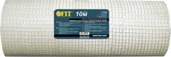 Лента стеклотканевая фасадная FIT, 1 м х 10 м11610Лента стеклотканевая интерьерная FIT применяется для :армирования поверхностей стен и потолков при штукатурных работах и в системах внешнего утепления;восстановления растрескавшихся штукатурки;заделки мест примыкания оконных и дверных коробок к стенам;армирования наливных полов. Характеристики: Материал: стекловолокно. Размеры: 1 м х 10 м. Размер ячейки: 5 мм х 5 мм. Плотность: 110 гр/м2 Размеры упаковки: 100 см х 8 см х 8 см.