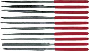 Набор надфилей FIT, длина 14 см, 10 шт42170Набор надфилей FIT необходим для обработки поверхностей из различного материала. Данный набор включает в себя десять надфилей, что позволяет произвести работу с необходимой точностью. Инструмент оснащен удобными ручками из ПВХ. Характеристики: Материал: ПВХ, металл. Длина надфилей: 14 см. Размер упаковки: 20 см x 11 см x 1 см.