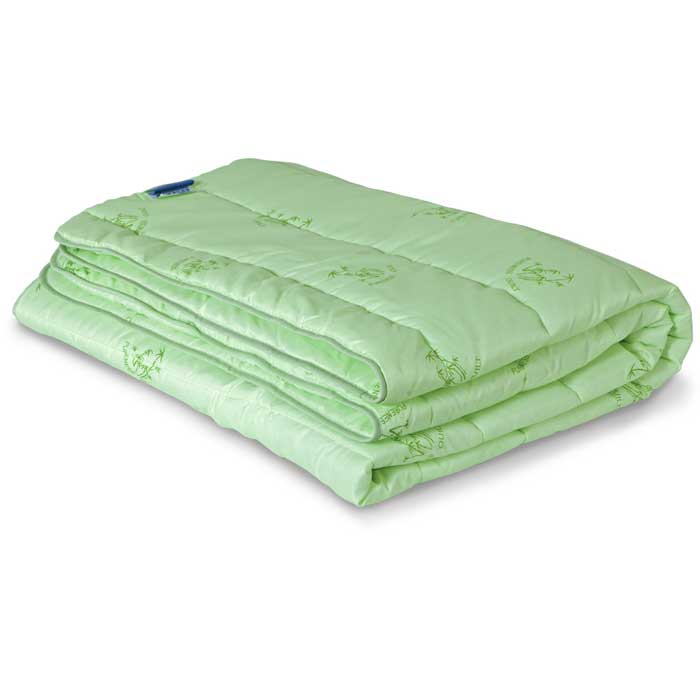 Одеяло всесезонное Miotex Бамбук, наполнитель: волокно бамбука, цвет: зеленый, 200 х 220 смМБПЭ-22-3Стеганый чехол всесезонного одеяла Miotex Бамбук выполнен из полиэстера зеленого цвета с набивным рисунком в виде веточек бамбука. Наполнитель - волокно на основе бамбука.Бамбуковое одеяло обладает дезодорирущими и антибактериальными свойствами. Подходит людям, страдающим аллергией и астмой, так как совершенно гипоаллергенно. Под легким и теплым одеялом вам будет очень комфортно. Одеяло простегано и окантовано.Рекомендации по уходу:- Стирка запрещена.- Не гладить. Не применять обработку паром.- Химчистка в щадящем режиме.- Нельзя выжимать и сушить в стиральной машине. Характеристики: Материал чехла: 100% полиэстер. Наполнитель: волокно бамбука. Цвет: зеленый. Плотность: 300 г/м. Размер одеяла: 200 см х 220 см. Размер упаковки: 52 см х 52 см х 4 см. Артикул: МБПЭ-22-3. УВАЖАЕМЫЕ КЛИЕНТЫ! Обращаем ваше внимание на возможные изменения в цветовом дизайне рисунка.